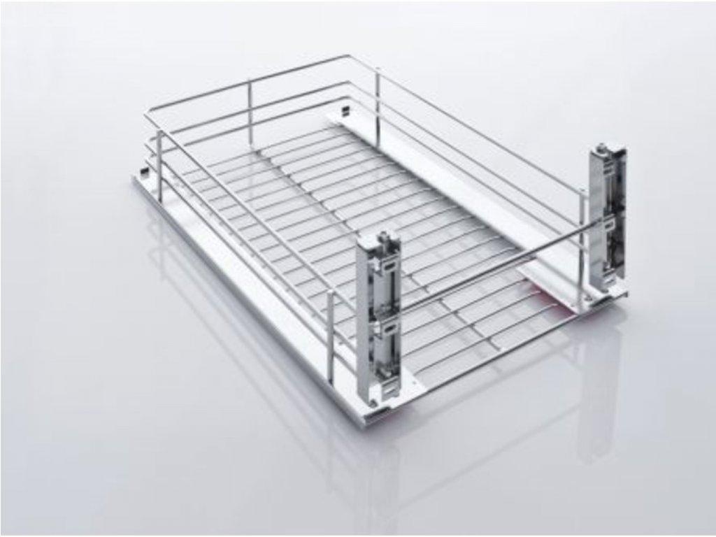 CVK - čelní výsuvný koš (s plasty) pro skříň 400 mm, držáky dveří, drátěné dno