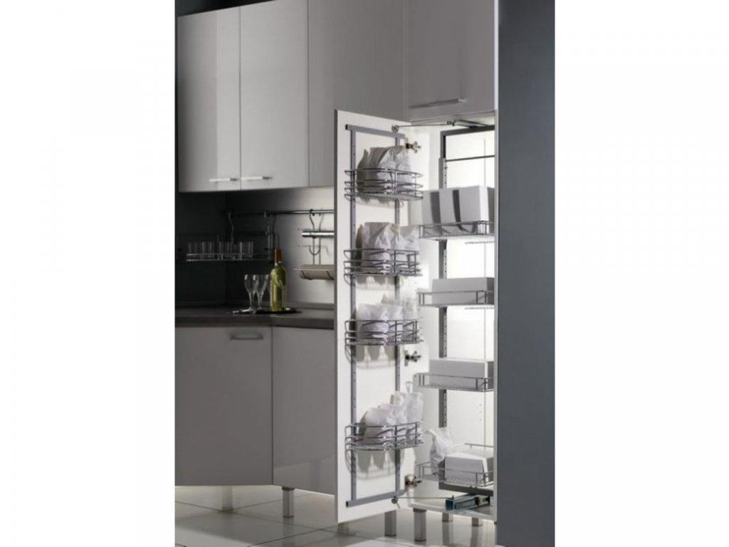 Potravinová skříň dělená 450mm - střední 1180 - 1550 + 4ks set košů