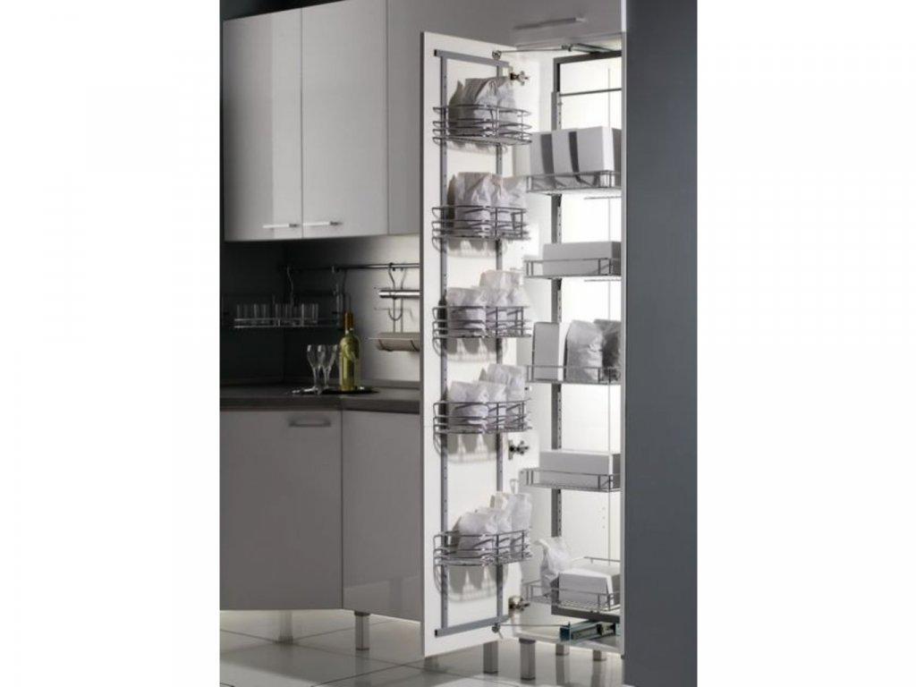 Potravinová skříň dělená 450mm - vysoká 1750 - 2120 + 5ks set košů