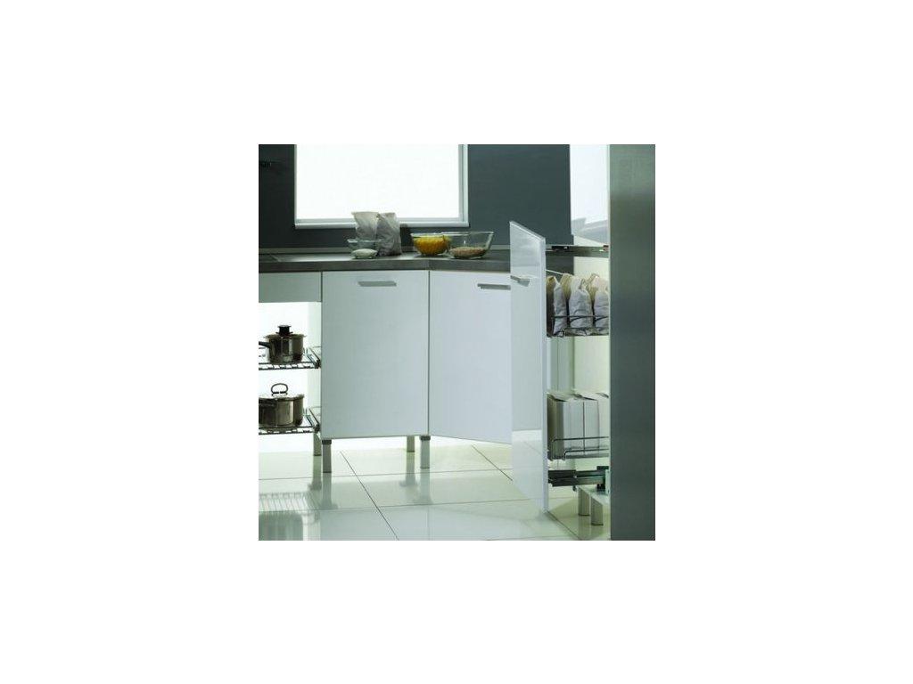 Potravinová skříň nízká set se 2 koši šíře 600mm + výsuv Schock Metall do 100kg