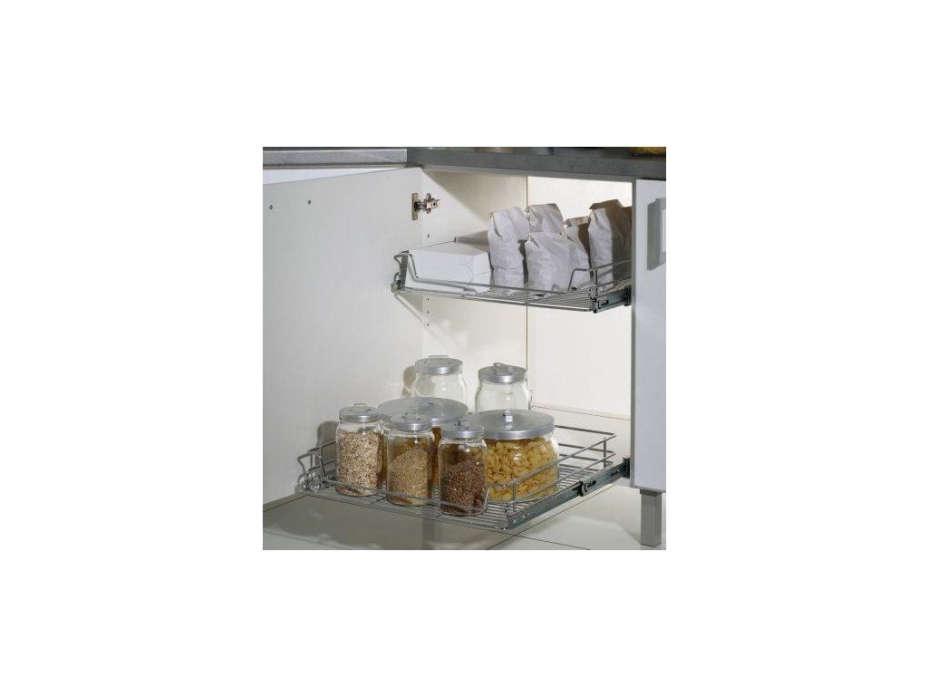 Výsuvný koš pro skříň 450 mm, drátěné dno