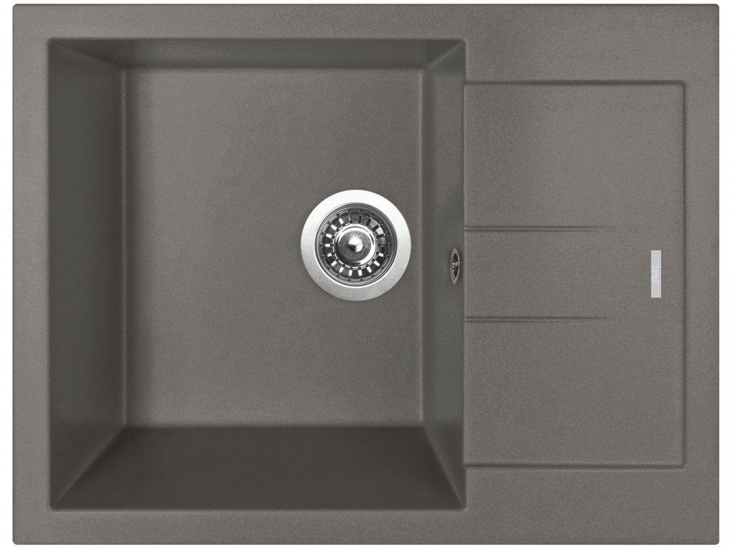 Granitový dřez Sinks AMANDA 650 Truffle  + Čistící pasta Sinks na dřezy