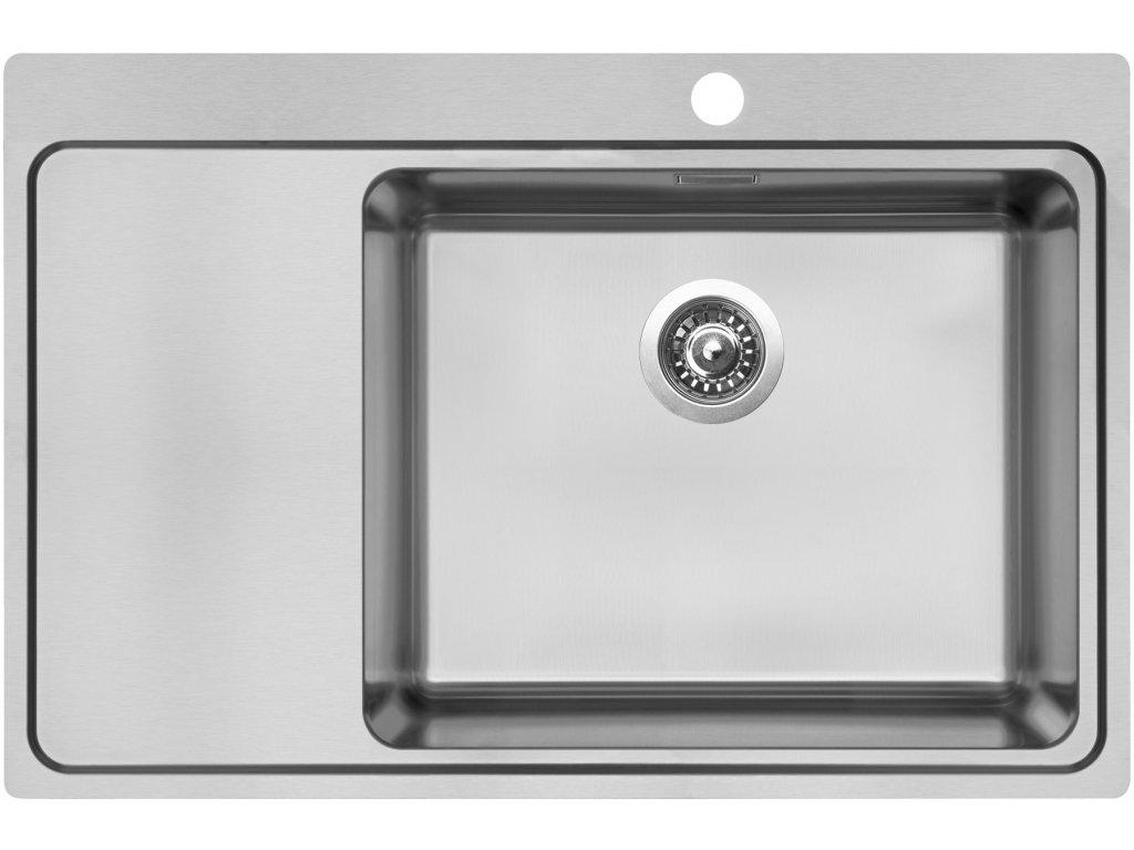 Nerezový dřez Sinks BLOCKER 780 V 1mm kartáčovaný pravý  + Čistící pasta Sinks