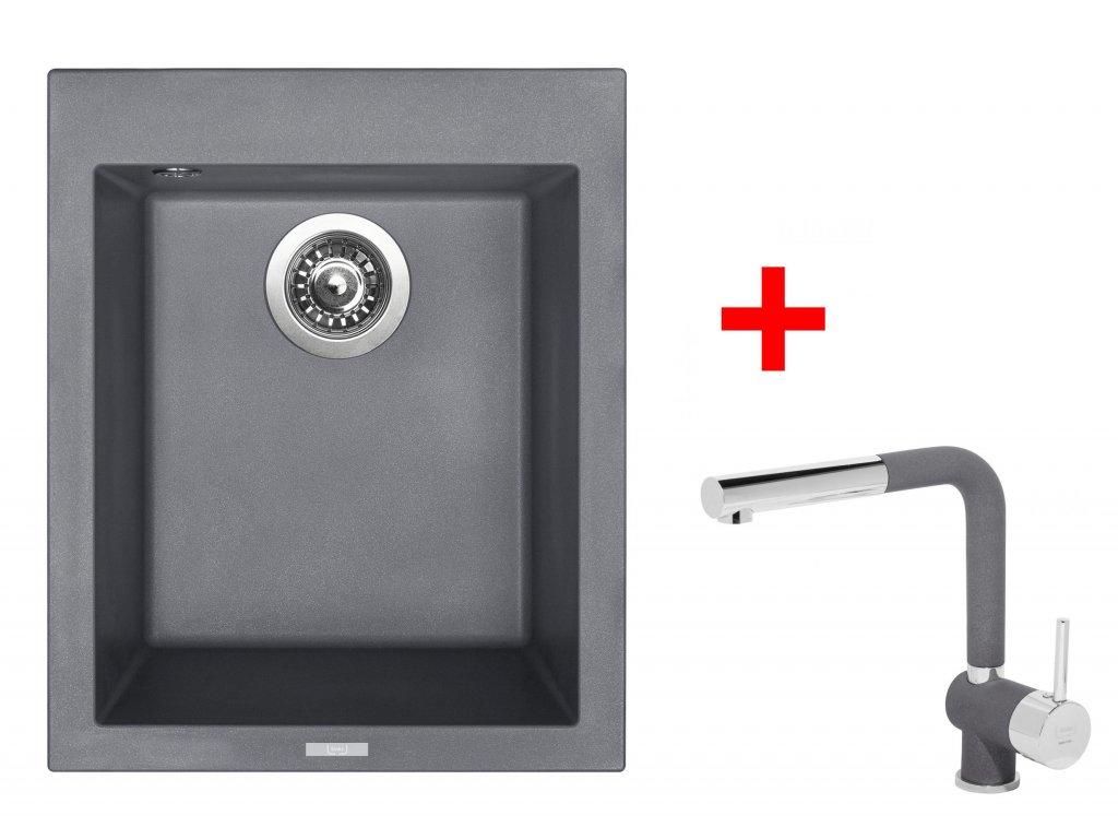 Set Sinks CUBE 410 Titanium+MIX 3 P GR  + Čistící pasta Sinks na dřezy