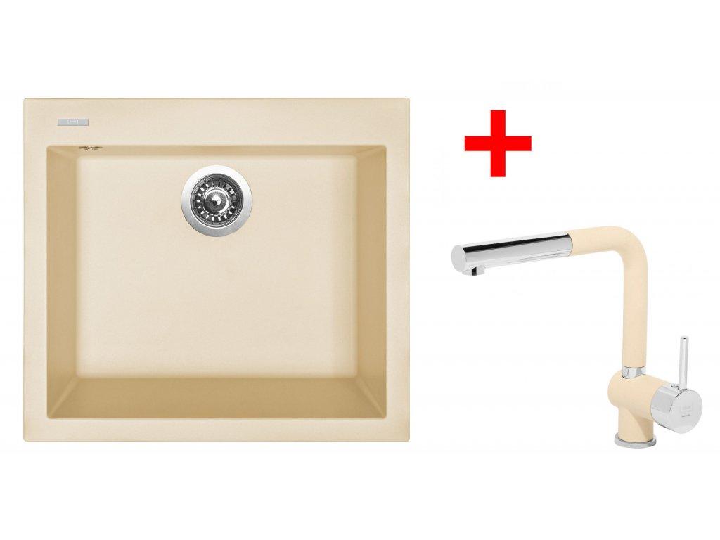 Set Sinks CUBE 560 Sahara+MIX 3 P GR  + Čistící pasta Sinks na dřezy