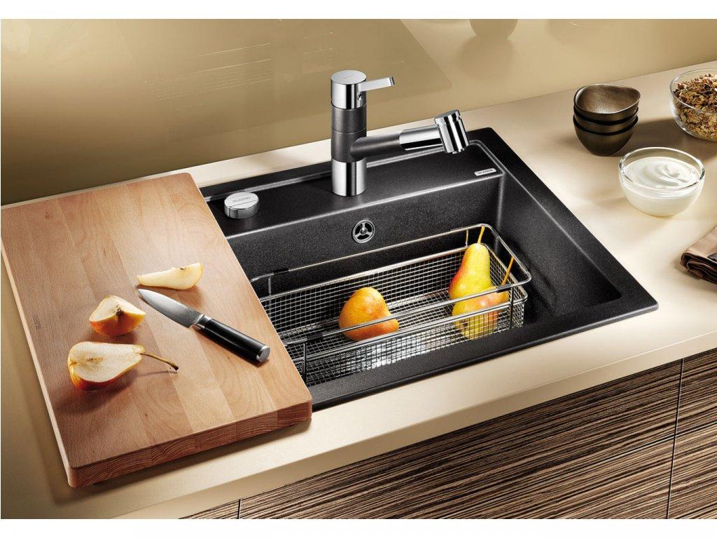 Granitový dřez Blanco DALAGO 5 aluminium s excentrem