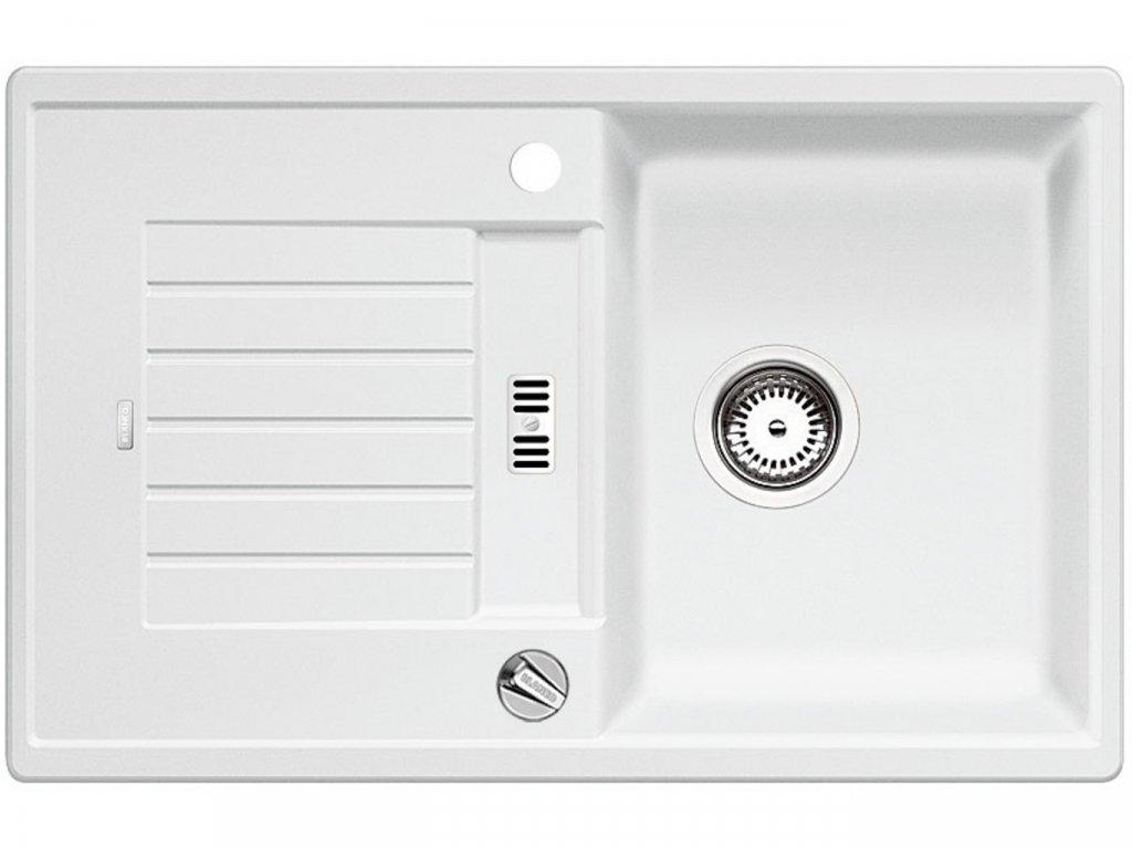 Granitový dřez Blanco ZIA 45 S bílá s excentrem