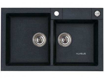 Granitový dvojdřez Alveus ROCK 90 černá