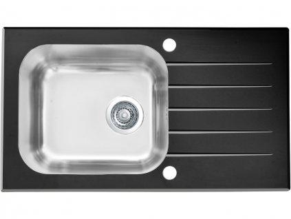 Alveus ALTONE 20 černá- sklo 780x435 mm - F