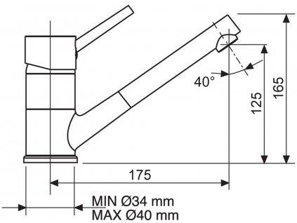 Dřezová baterie Sinks MIX 4000 P chrom