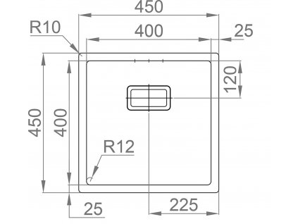 Nerezový dřez Sinks BOX 450 FI 1,0mm