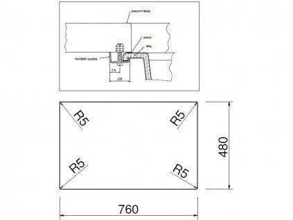 Granitový dřez Sinks AMANDA 780 Metalblack  + Čistící pasta Sinks na dřezy