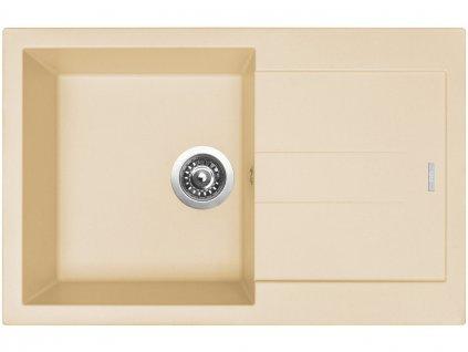 Granitový dřez Sinks AMANDA 780 Sahara  + Čistící pasta Sinks na dřezy