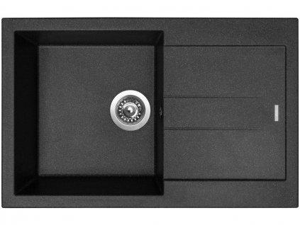 Granitový dřez Sinks AMANDA 780 Granblack  + Čistící pasta Sinks na dřezy