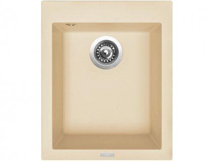 Granitový dřez Sinks CUBE 410 Sahara  + Čistící pasta Sinks na dřezy