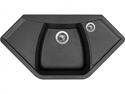 Granitový dřez Sinks NAIKY 980 Metalblack  + Čistící pasta Sinks na dřezy