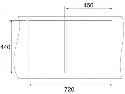 Granitový dřez Sinks CLASSIC 740 Granblack  + Čistící pasta Sinks na dřezy