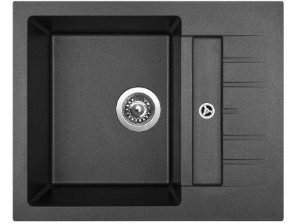 Granitový dřez Sinks CRYSTAL 615 Metalblack  + Čistící pasta Sinks na dřezy