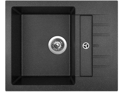 Granitový dřez Sinks CRYSTAL 615 Granblack  + Čistící pasta Sinks na dřezy