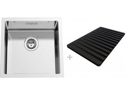Nerezový dřez Sinks BOXSTEP 450 RO 1,0mm + VERSUS