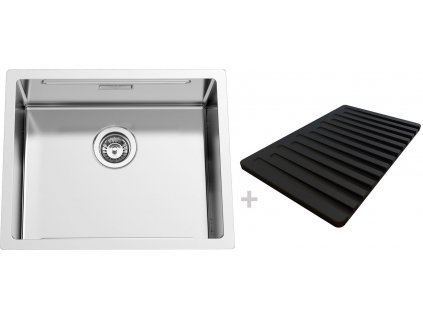 Nerezový dřez Sinks BOXSTEP 550 RO 1,0mm + VERSUS