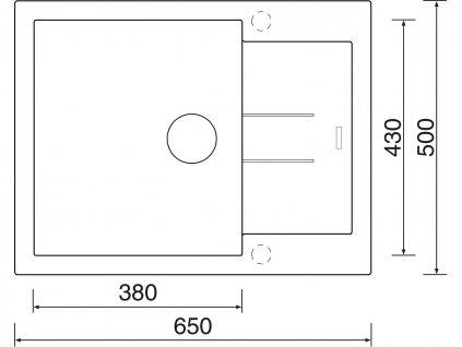 Granitový dřez Sinks AMANDA 650 Metalblack  + Čistící pasta Sinks na dřezy