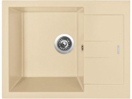 Granitový dřez Sinks AMANDA 650 Sahara  + Čistící pasta Sinks na dřezy