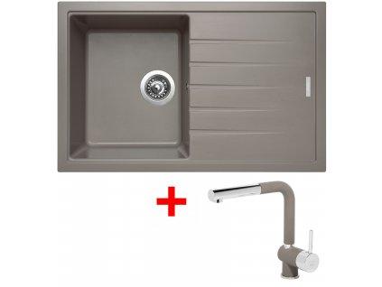 Sinks BEST 780 Truffle+MIX 3P GR  + Čistící pasta Sinks na dřezy