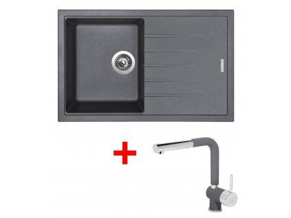 Sinks BEST 780 Titanium+MIX 3P GR  + Čistící pasta Sinks na dřezy