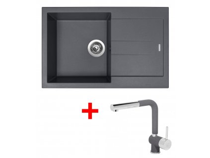 Set Sinks AMANDA 780 Titanium+MIX 3P GR  + Čistící pasta Sinks na dřezy
