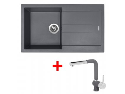 Sinks AMANDA 860 Titanium+MIX 3P GR  + Čistící pasta Sinks na dřezy