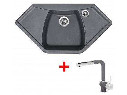 Sinks NAIKY 980 Titanium+MIX 3P GR  + Čistící pasta Sinks na dřezy