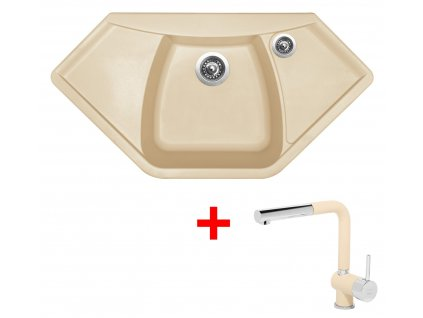 Sinks NAIKY 980 Sahara+MIX 3P GR  + Čistící pasta Sinks na dřezy