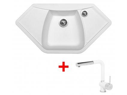 Sinks NAIKY 980 Milk+MIX 3P GR  + Čistící pasta Sinks na dřezy