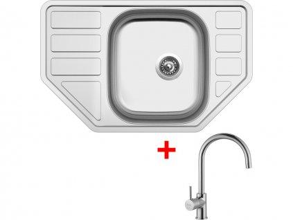 Nerezový dřez Sinks CORNO 770 V+VITALIA