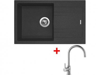 Set Sinks LINEA 780 N Granblack+VITALIA  + Čistící pasta Sinks na dřezy