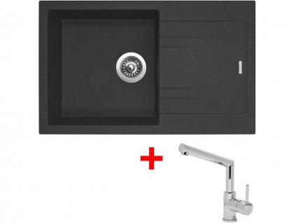 Set Sinks LINEA 780 N Granblack+MIX 350P  + Čistící pasta Sinks na dřezy