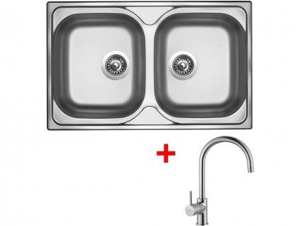 Nerezový dřez Sinks CLASSIC 800 DUO V+VITALIA