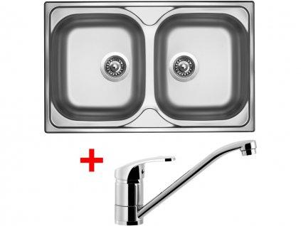 Nerezový dřez Sinks CLASSIC 800 DUO V+PRONTO
