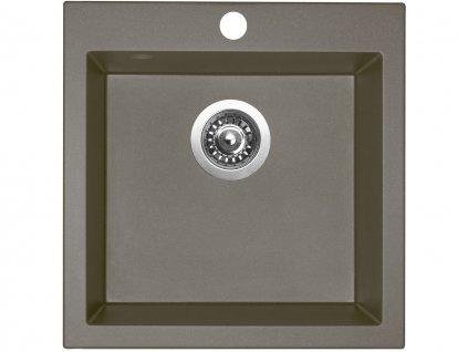 Granitový dřez Sinks VIVA 455 Truffle  + Čistící pasta Sinks na dřezy