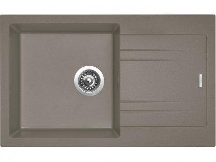 Granitový dřez Sinks LINEA 780 N Truffle  + Čistící pasta Sinks na dřezy
