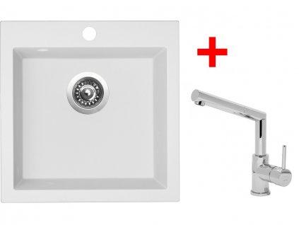 Set  Sinks VIVA 455 Milk+MIX 350P  + Čistící pasta Sinks na dřezy