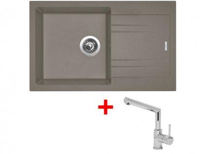 Set  Sinks LINEA 780 N Truffle+MIX 350P  + Čistící pasta Sinks na dřezy