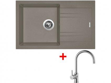 Set Sinks LINEA 780 N Truffle+VITALIA  + Čistící pasta Sinks na dřezy