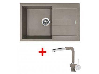 Set Sinks AMANDA 860 Truffle+MIX 3 P GR  + Čistící pasta Sinks na dřezy