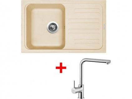 Set Sinks CLASSIC 740 Sahara+ELKA  + Čistící pasta Sinks na dřezy