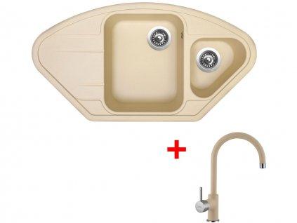 Set Sinks LOTUS 960.1 Sahara+VITALIA GR  + Čistící pasta Sinks na dřezy