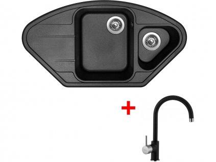 Set Sinks LOTUS 960.1 Metalblack+VITALIA GR  + Čistící pasta Sinks na dřezy
