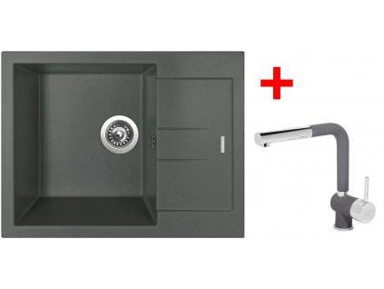 Set Sinks AMANDA 650 Titanium+MIX 3 P GR  + Čistící pasta Sinks na dřezy