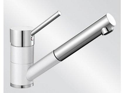 Dřezová baterie Blanco ANTAS-S Keramika-look dvoubarevná bílá lesk/chrom